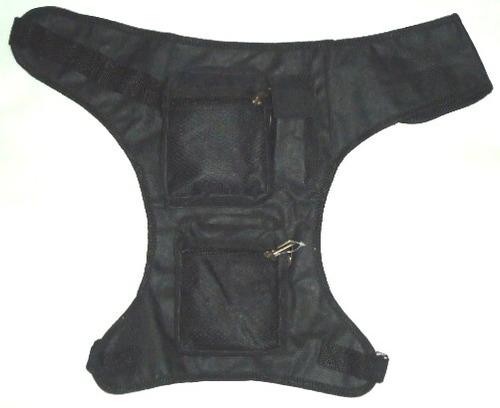 pochete cartucheira de perna perneira com regulagem no cinto
