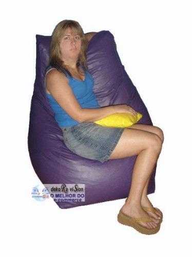 puff poltrona mais encosto e conforto para você com almofada