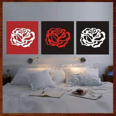 quadrinhos de rosas em alto-relevo paineis c/ rosinhas mdf
