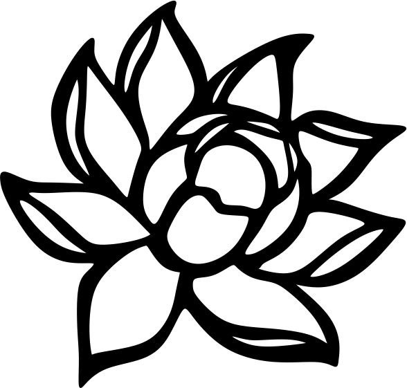 Free Clipart Black And White Magnolia Joy Studio Design