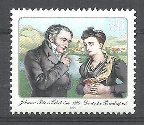 Resultado de imagem para SELO DE Johann Peter Hebel,