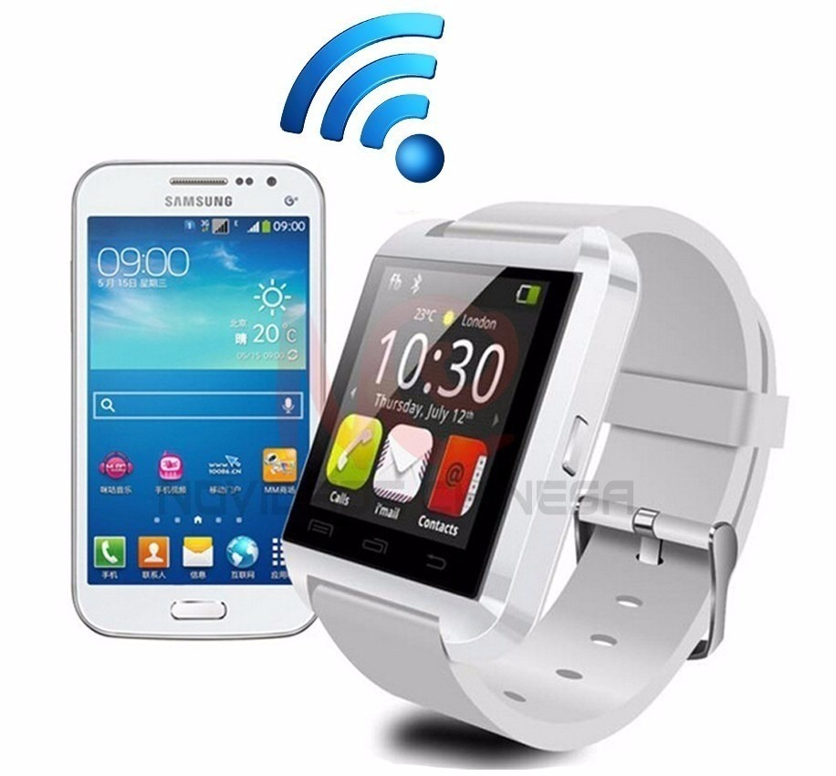 You pair a smartwatch with your phone (via Bluetooth) so that the watch can show, and let you interact with, race with an Apple Watch and iPhone.