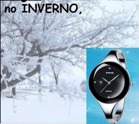 relógio bracelete redondo kimio feminino fashion