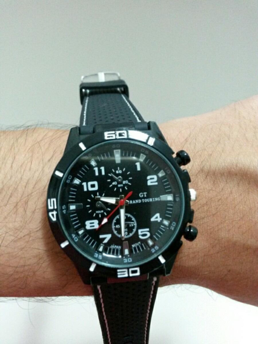 f1661f8d589 Relógio Masculino Esporte Pulseira Em Silicone Oferta R