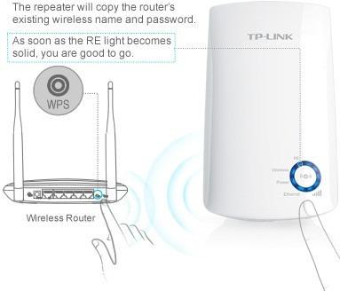 repetidor expansor tplink wireless wa850re wi-fi 300mpbs