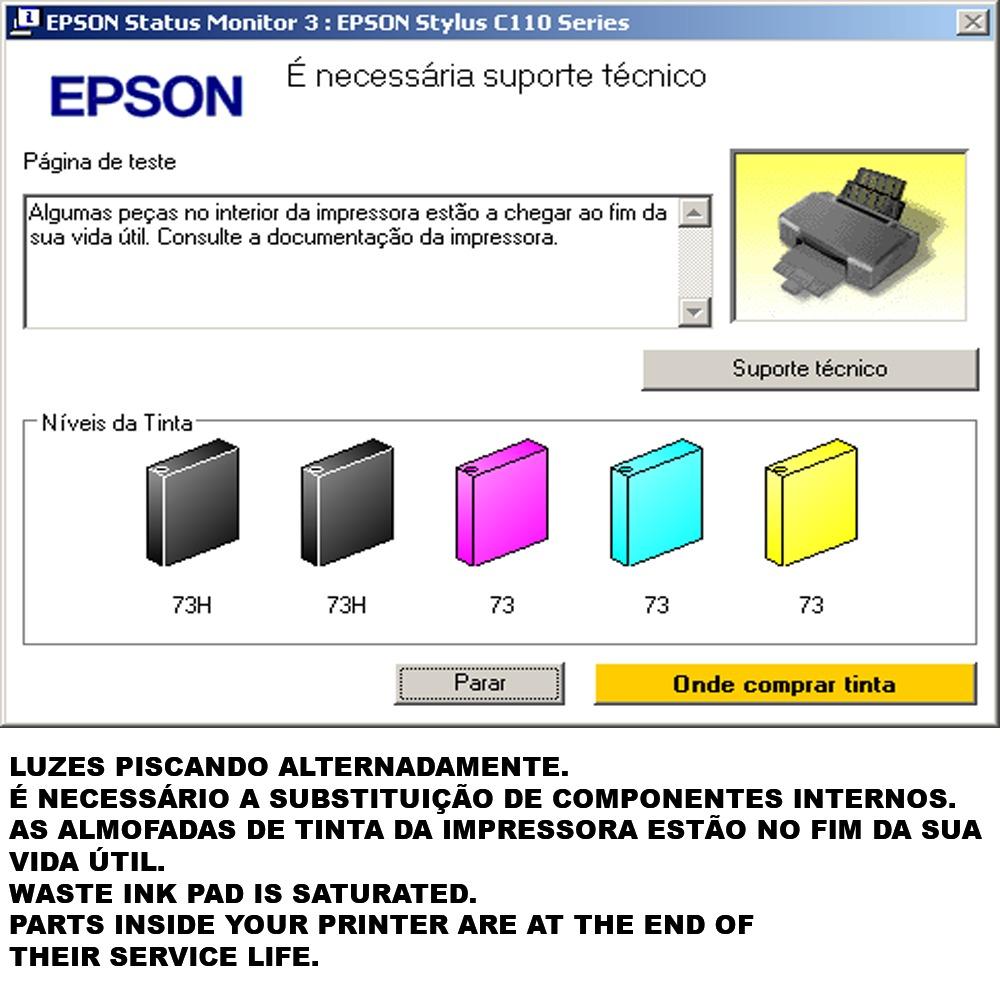 Reset epson l110 l210 l300 l350 l355 Zip out