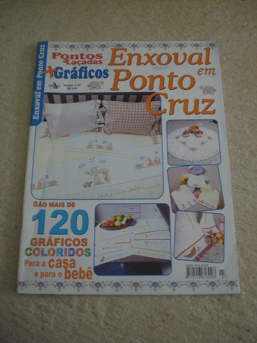 Revista Pontos E Laçados Enxoval Em Ponto Cruz Bebê Nº7 - R$ 22,00 ...
