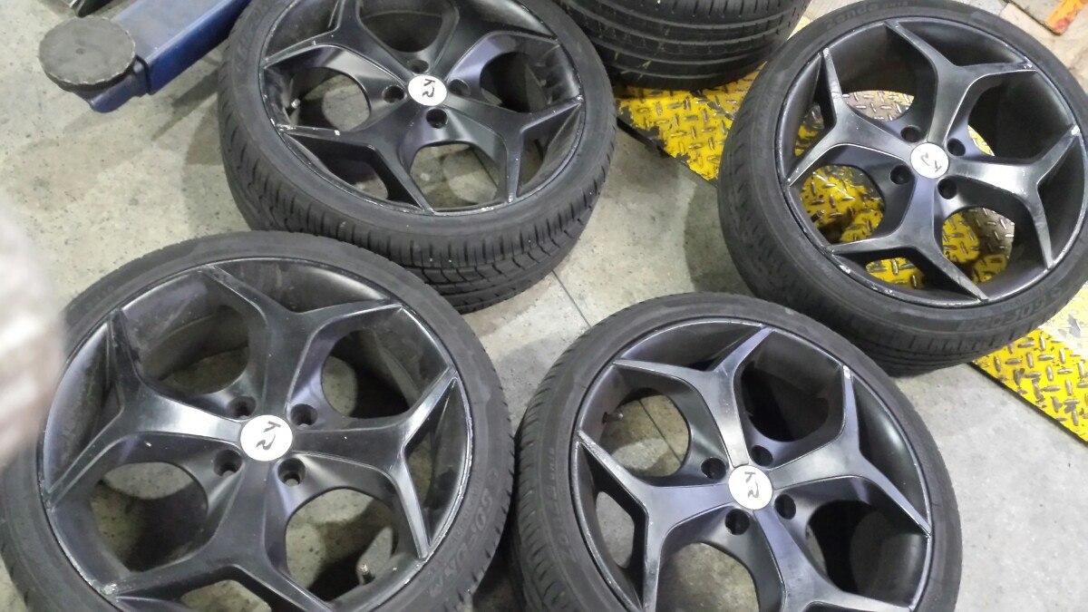 roda aro 17 k18 krmai preta fosca pneu 205 40 17 jogo r em mercado livre. Black Bedroom Furniture Sets. Home Design Ideas