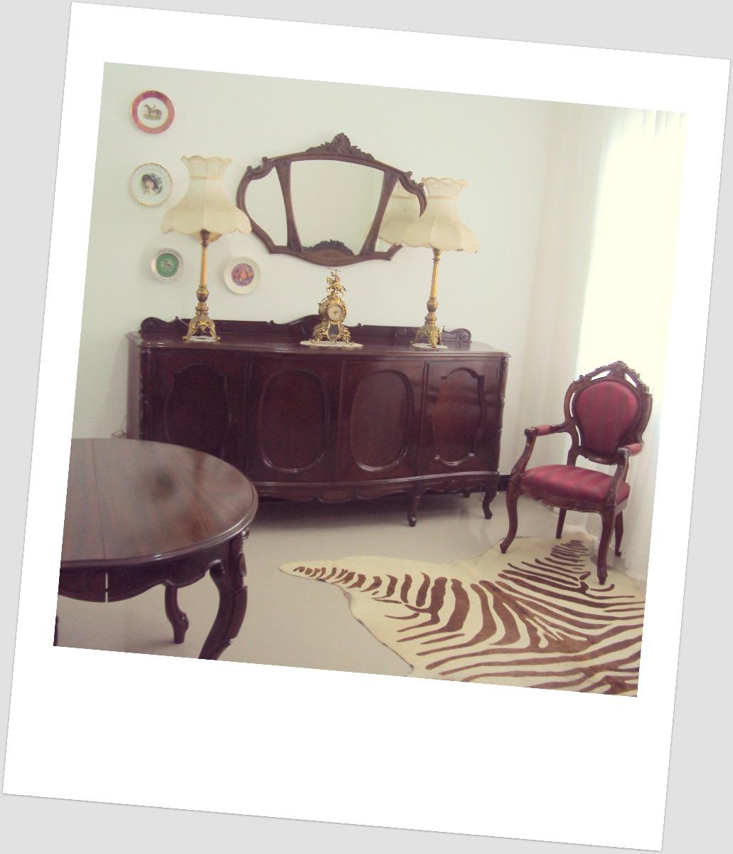 Conjunto De Sala De Jantar Luis Xv ~ Sala De Jantar Luis Xvantiga 8 Cadeiras E Buffet  R$ 16000,00 em