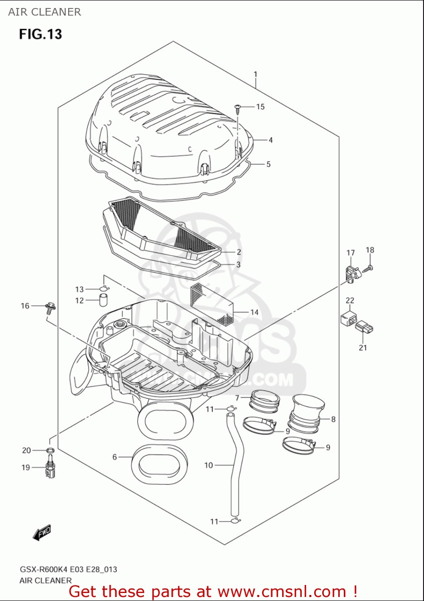 Sensor Pressão Ar Map Suzuki Gsxr 600 750 1000 15620-29g00