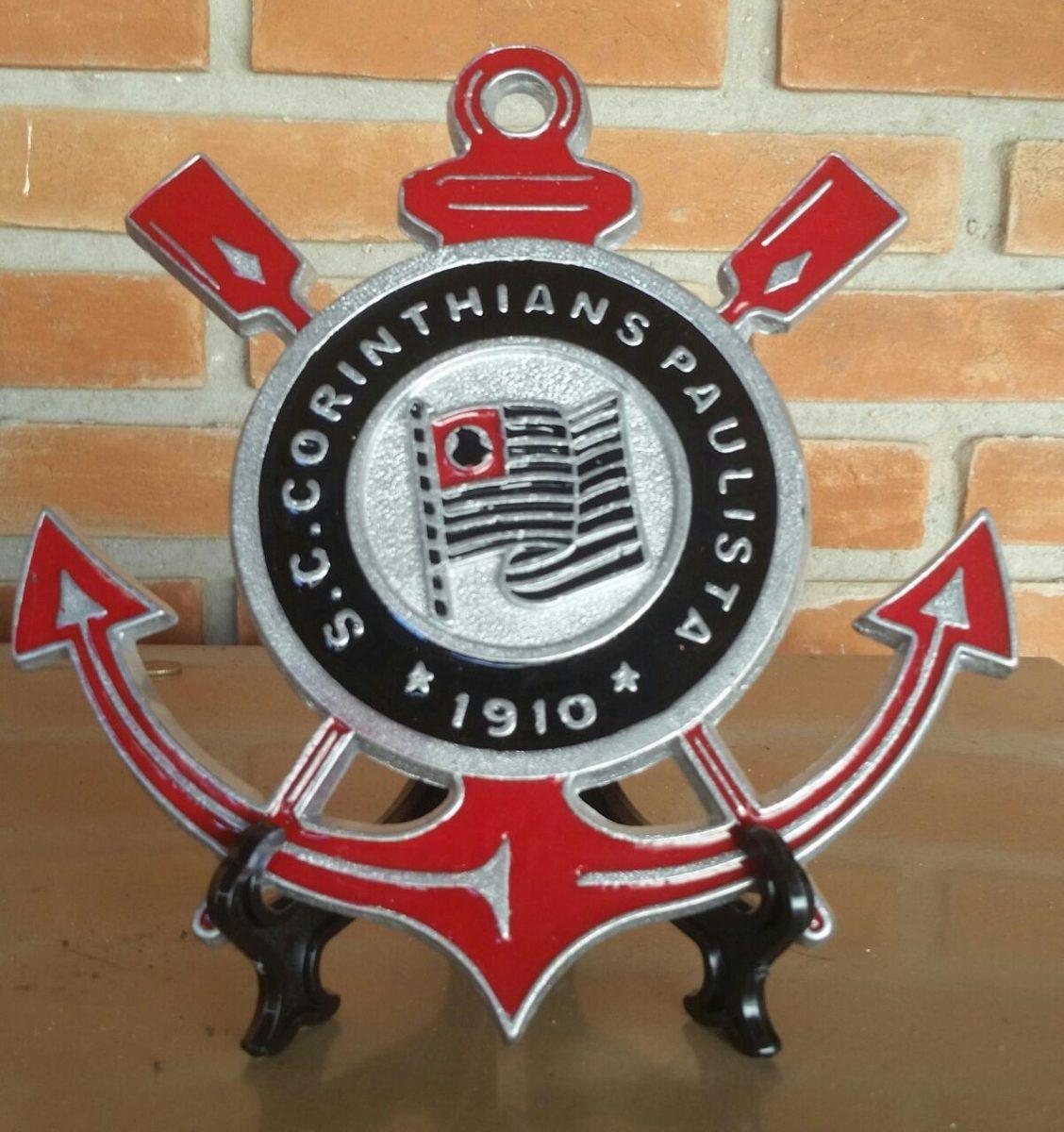 Simbolo decorativo corinthians em alum nio fundido r 69 - Simbolo de aluminio ...