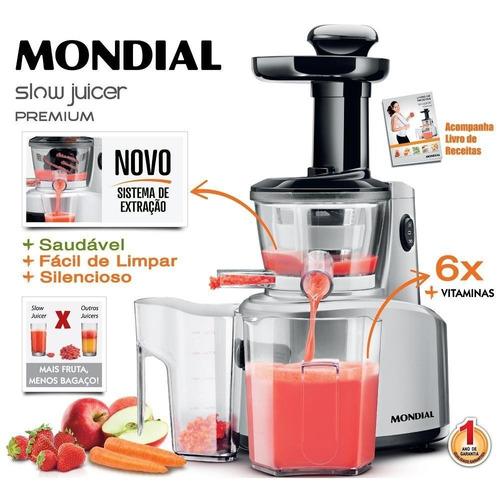 Slow Juicer Premium 250w Com Duas Jarras Sj-01 Mondial - R$ 248,88 em Mercado Livre