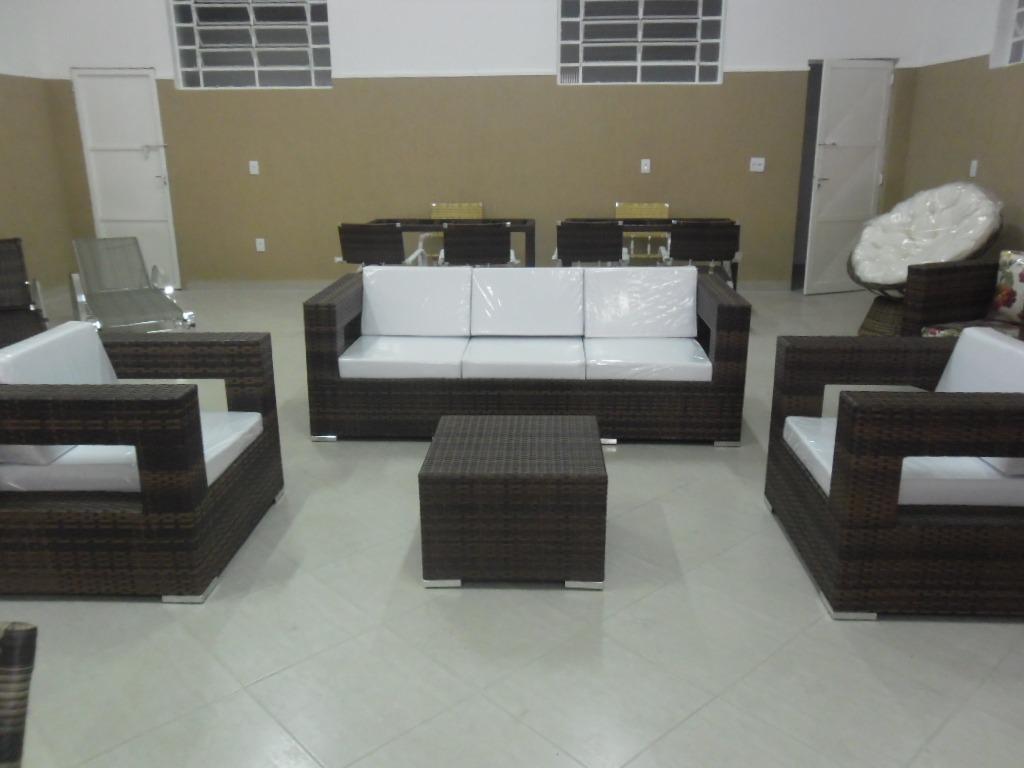 Sofá Em Alumínio De Alta Qualidade E Fibra Sintética  R$ 5950,00 em Mercado -> Armario De Banheiro De Fibra Sintetica