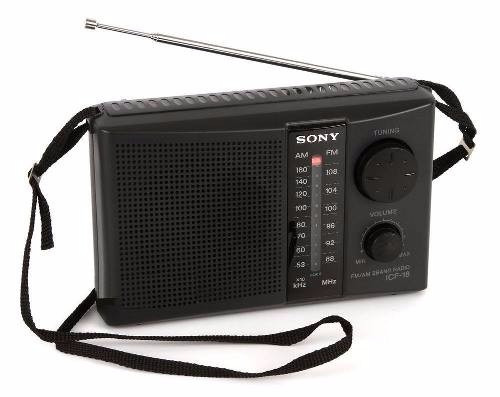 sony am/fm radio portatil