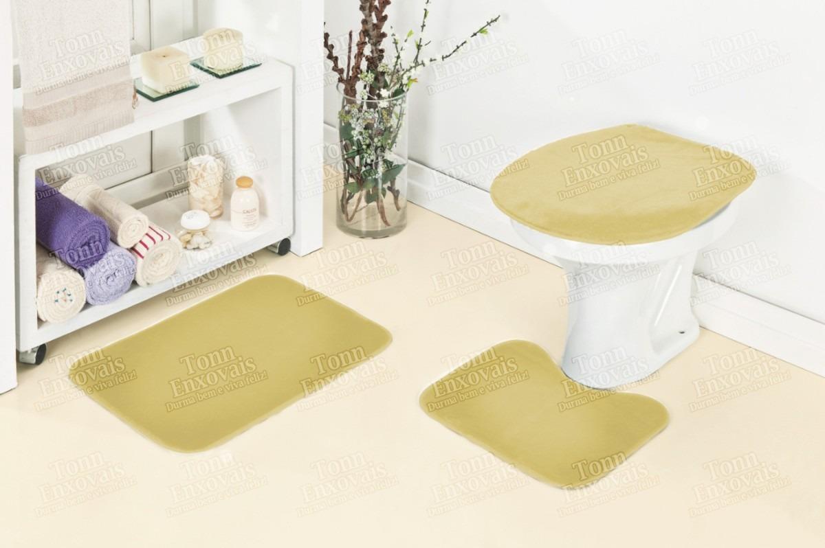 Jogo De Tapete Para Banheiro 3 Peças Em Pelúcia Frete Grátis  R$ 77,02 em Me -> Cuba Banheiro Frete Gratis