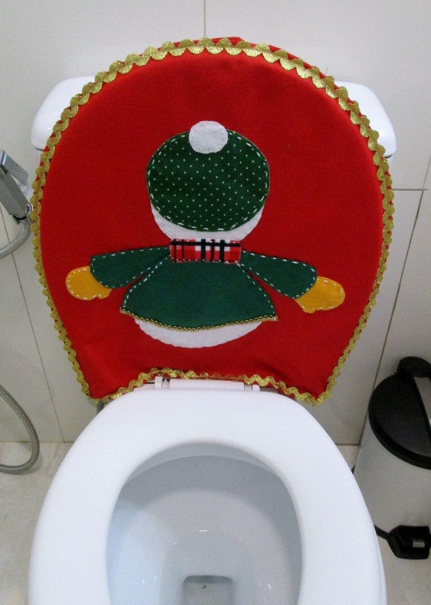 Tapetes Natal  Banheiro  Decoração Natalina  R$ 65,00 em Mercado Livre -> Decoracao Tapete Banheiro