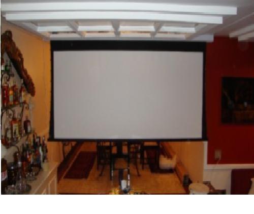 tela de projeção elétria 133  polegadas wide screen)