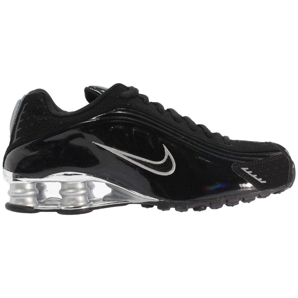 nike shox black and gold