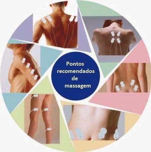 Tens Fes Para Fisioterapia E Massagem Com 4 Eletrodos R