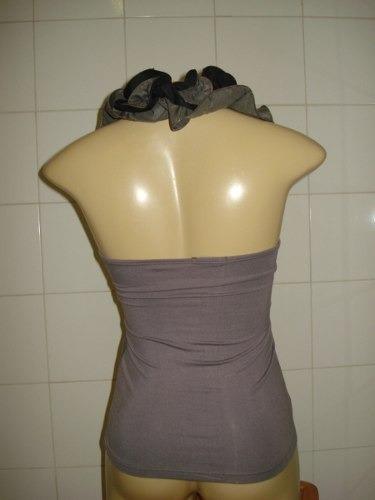 trimix, linda blusa com detalhe na gola
