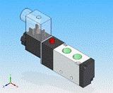 válvula solenóide mola 5/2 vias 1/4 pneumática pilotada