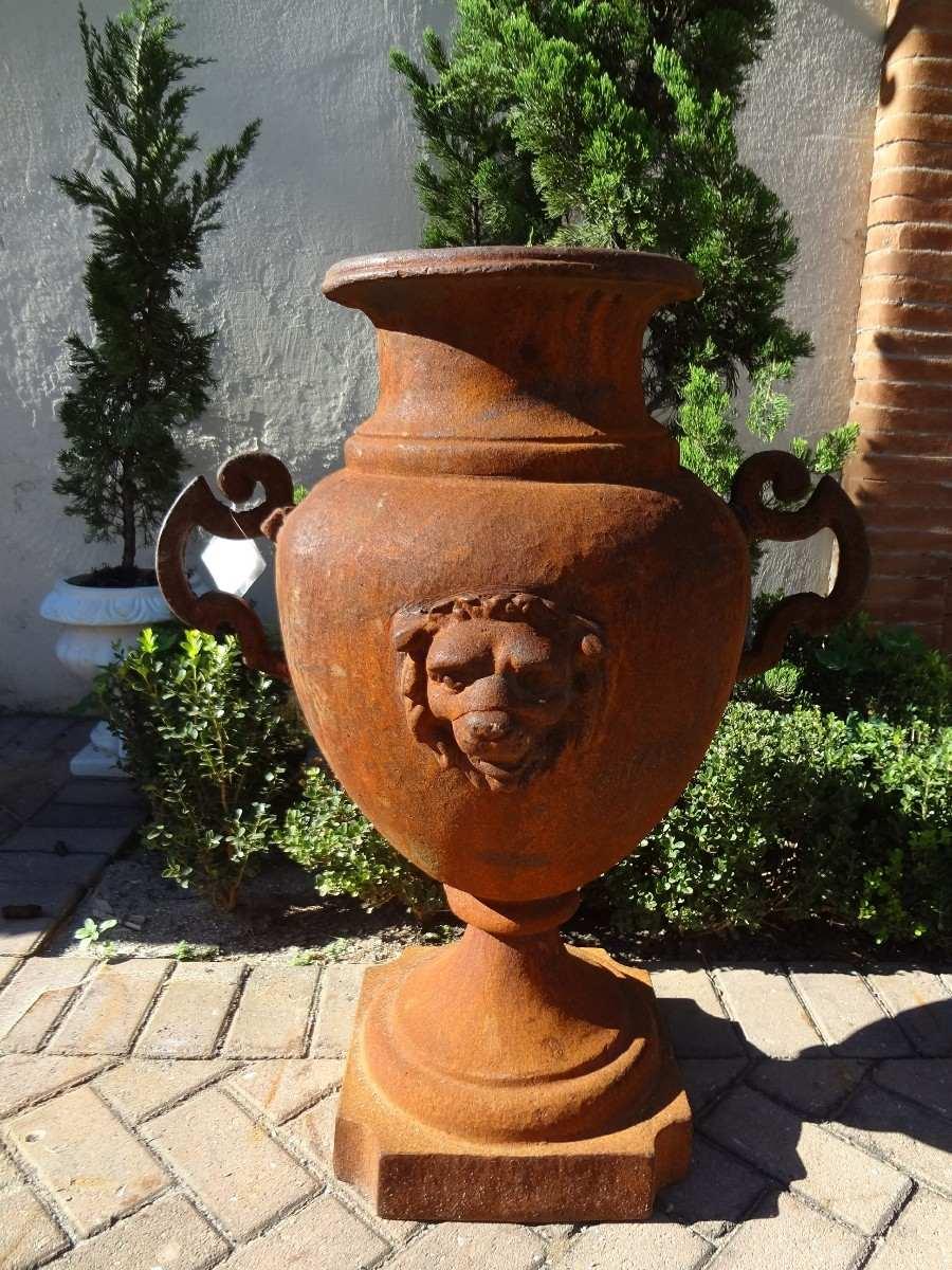 decoracao jardim vasos:Vaso De Ferro- Decoração- Arte – Antiquário E Jardim – Vf037 – R$ 1