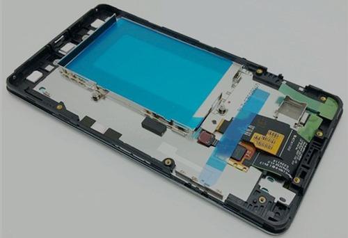 vidro touch + display lcd + aro frontal lg optimus g e977