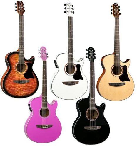 violão strinberg aw53c aço elétrico afinador digital - loja