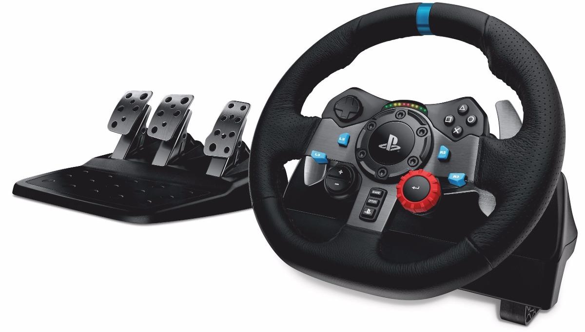 volante logitech driving force g29 ps4 ps3 pc original r. Black Bedroom Furniture Sets. Home Design Ideas