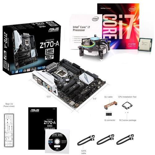 Kit Com Asus Z170-a Lga1151 + Intel Core I7-6700 Box ...